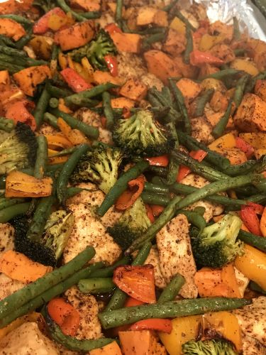 One-Pan Chicken Vegetable Roast